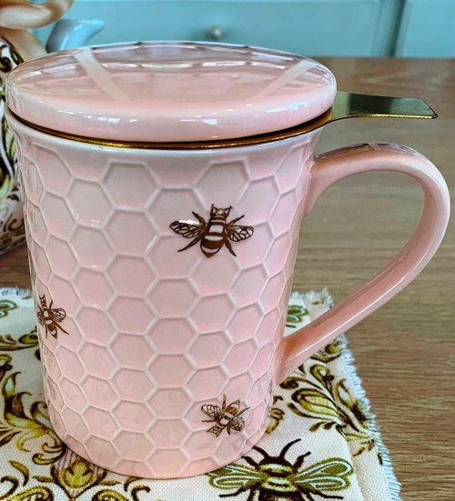 Queen Bee Covered Mug with Infuser