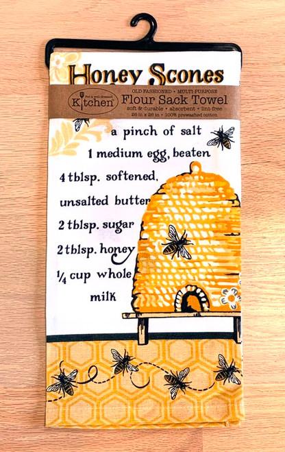Queen Bee Honey Scones Recipe Flour Sack Towel