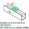 M10 1 Hole Flat Plate Bracket HDG  (Pack 20)