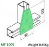 M10 4 Hole Flat Plate Joiner Bracket  HDG  (Pack 20)