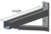 HDG Braced Cantilever Bracket  780mm