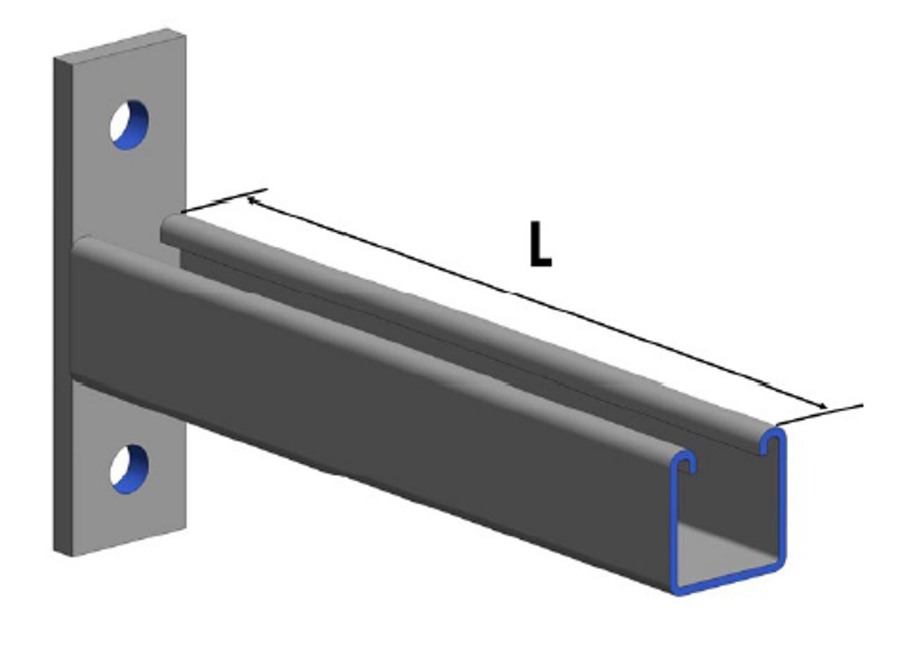 HDG Unbraced Cantilever Bracket (Kit) 300mm