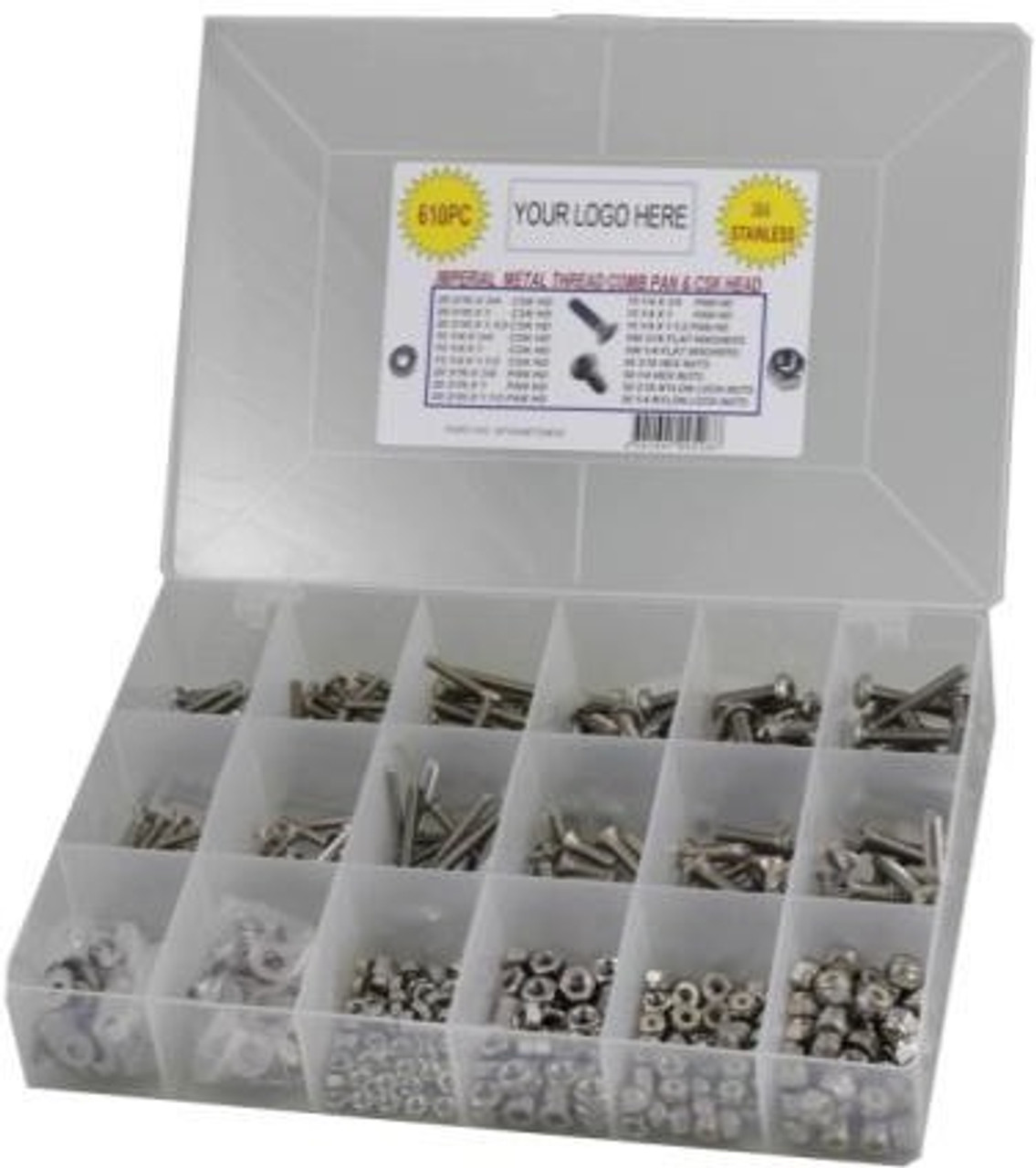 Marine Quality Fastener Kit STAINLESS STEEL 304 - 610 PC