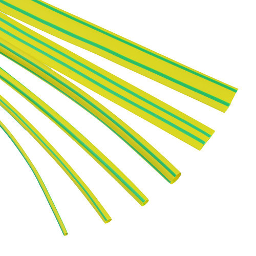 Green/Yellow Thin Wall Heatshrink 10.0mm-5.0mm 1.2m Length