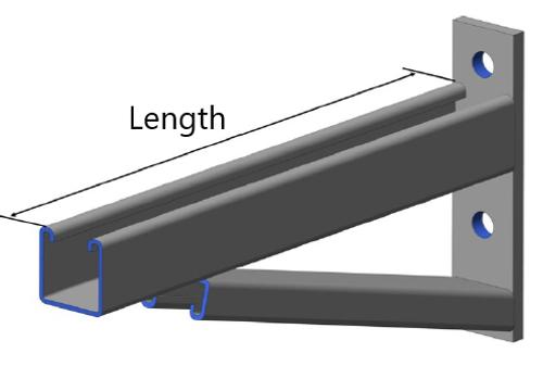 HDG Braced Cantilever Bracket (Kit) 460mm