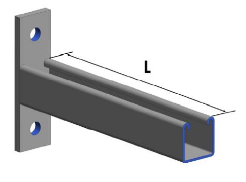 HDG Unbraced Cantilever Bracket (Kit) 600mm