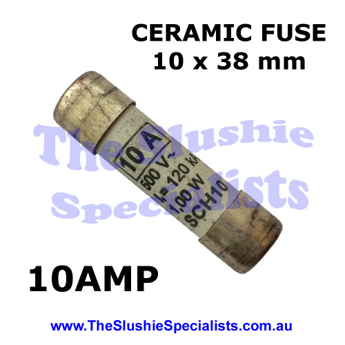 Ceramic Fuse 10 x 38 mm 10 Amp -