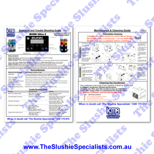 Laminated Instructions Sheet - BUNN