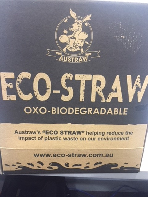 Eco straw - Oxo Biodegradable 4,000 Individually Wrapped - 4 Boxes dispenser with 1,000 straws per inner