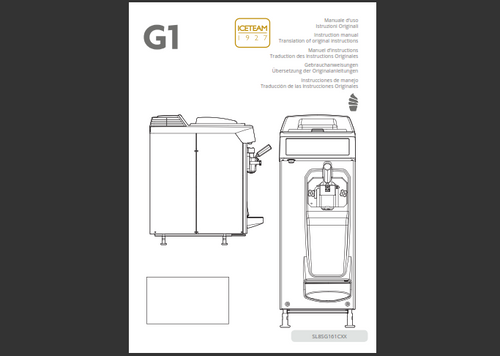 Iceteam G1 Soft Serve Manual (English)