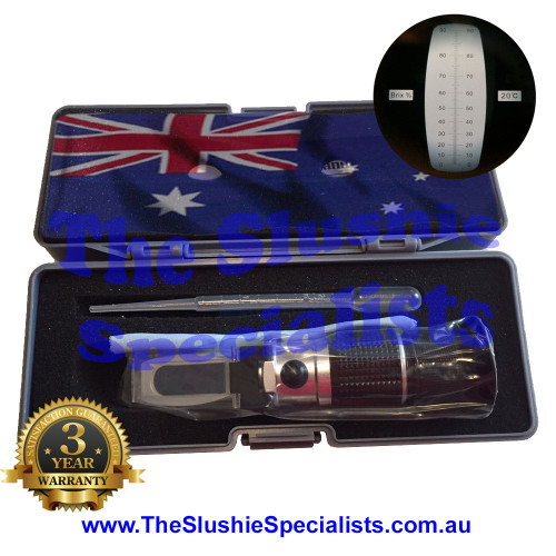 Refractometer 0-90% Brix Package
