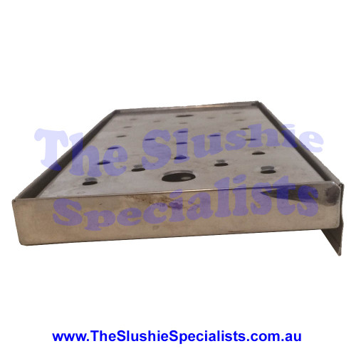 Stainless Steel Drip Tray Medium (With Lip) Side