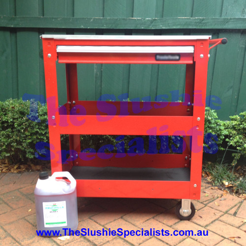 Red Slushie Machine Trolley - Heavy Duty
