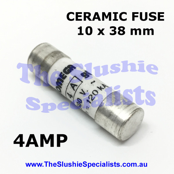 Ceramic Fuse 10 x 38 mm 4 Amp