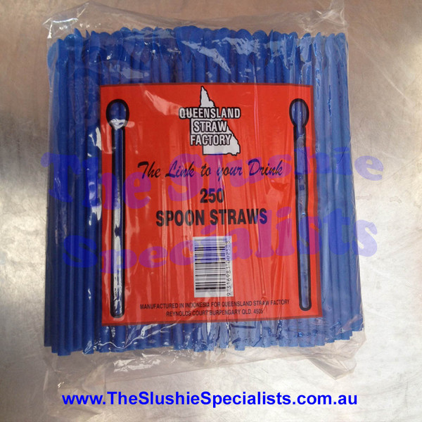 Blue Spoon Straw Pack (Qty of 250)