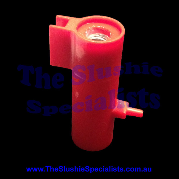 GBG Density Body with Indicator Red  This density indicator is the housing for the density screw   Manufacturer Part Number: SL300950073  SKU: 1720300073  Colour: Red Material: Plastic with metal screw thread Part numbers: SL3GS12037B SL300950073