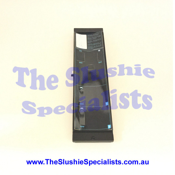CAB Faby Panel - Side w Control Black 1219206002  This panel goes at the side of the machine and has holes for controls/ switches to be inserted and includes labels but does NOT include switches