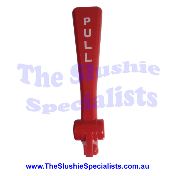 """BRAS - Tap Handle Red """"PULL"""" White text - 22800-27400"""