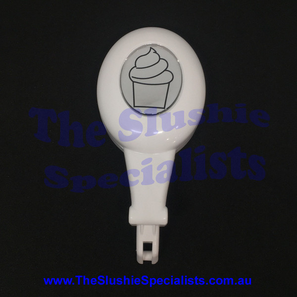 Tap Handle Oval - Spin White w Ice cream Decal - SL340001683