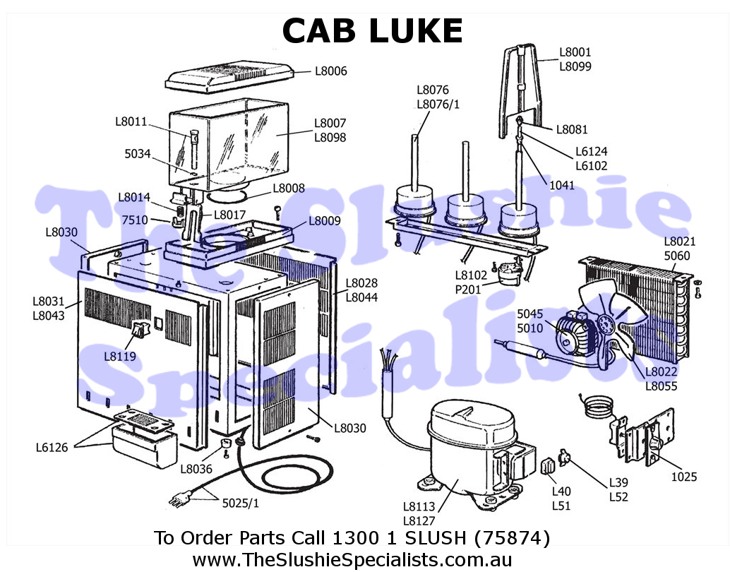 CAB Luke Exploded Parts View