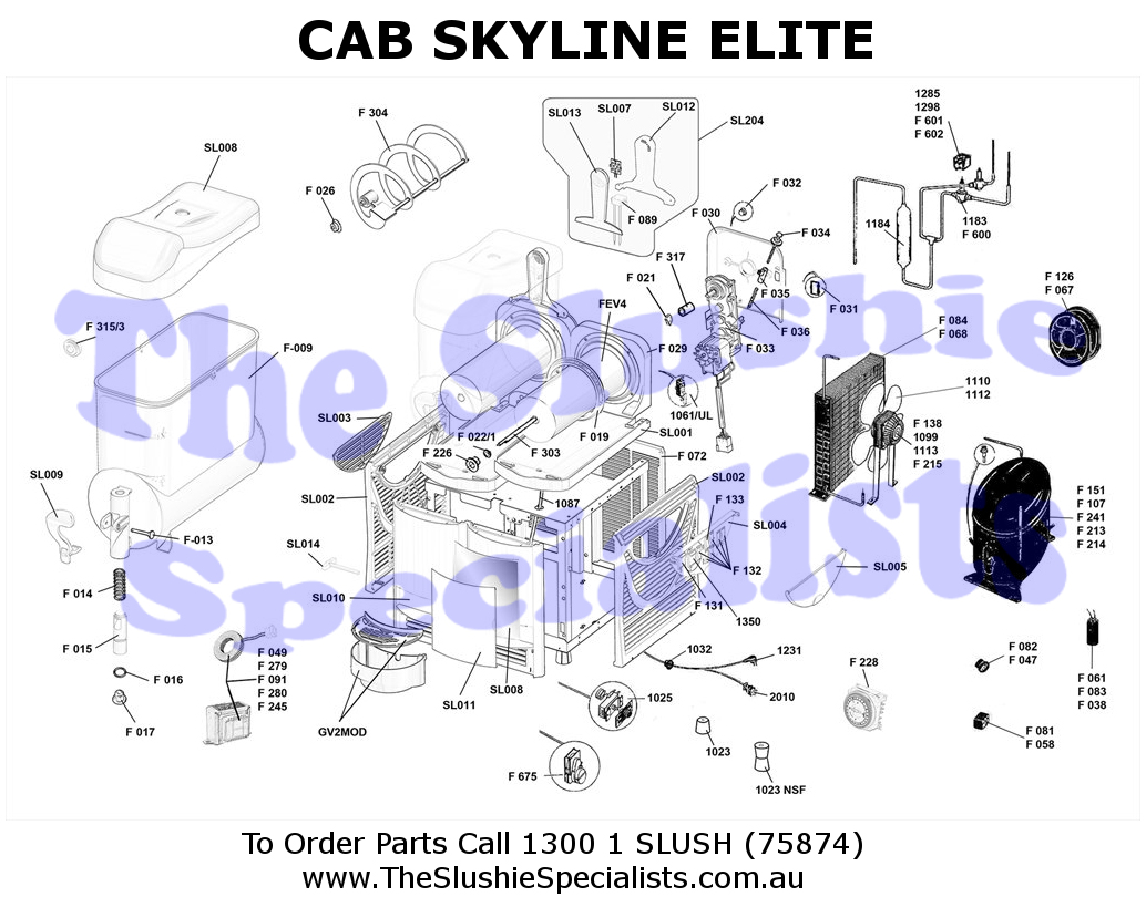 CAB Skyline Elite Exploded Parts View