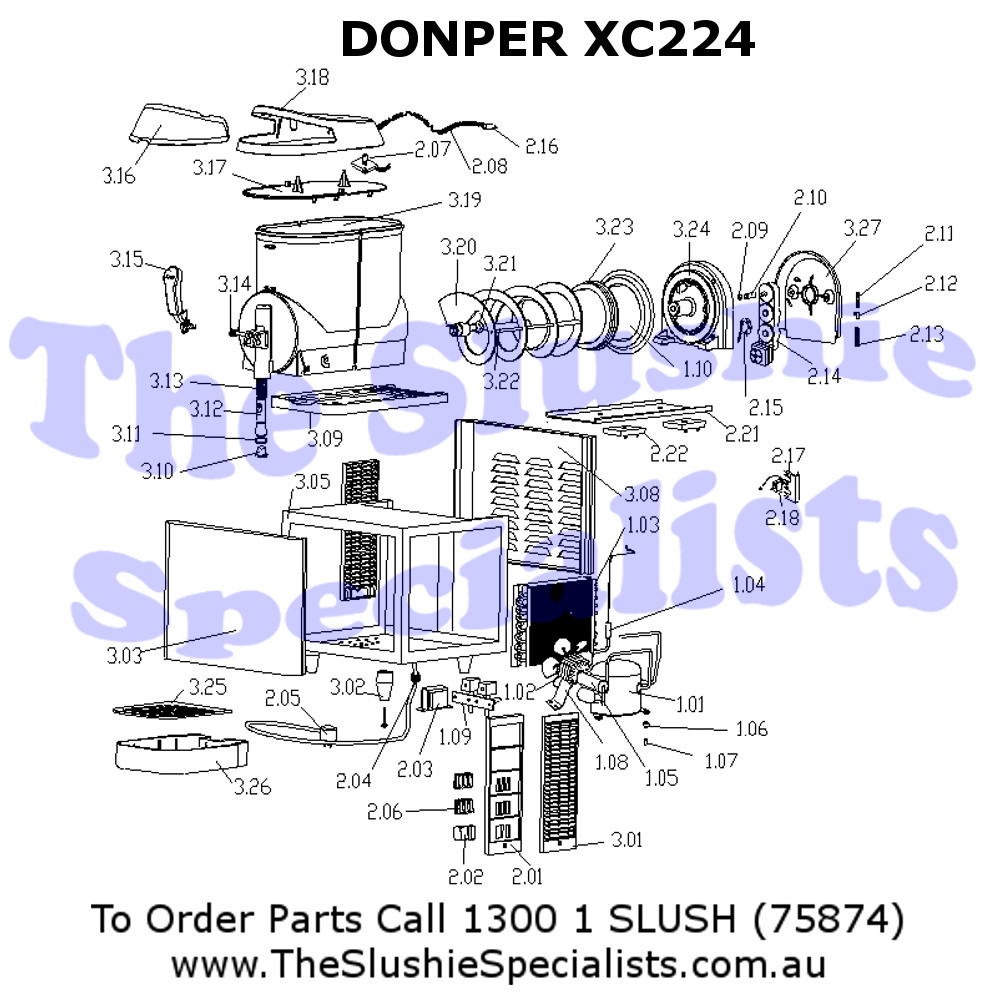 Donper XC224 Exploded Parts View