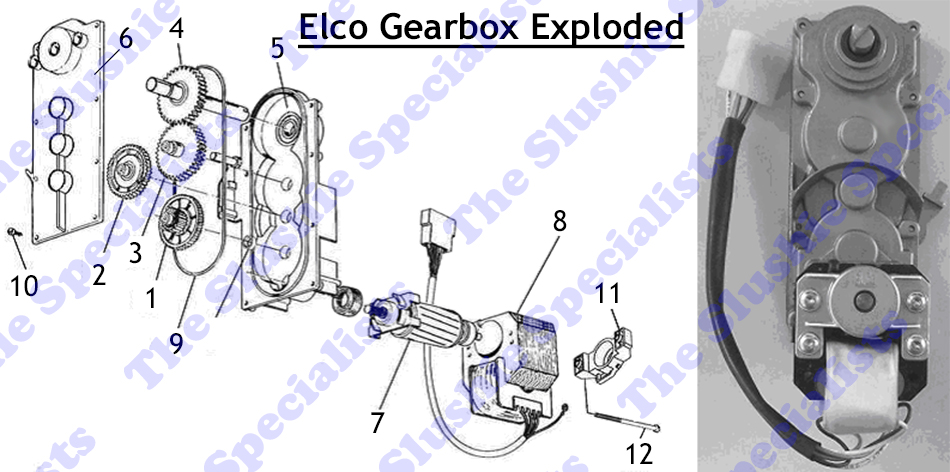 elco gear box exploded parts number