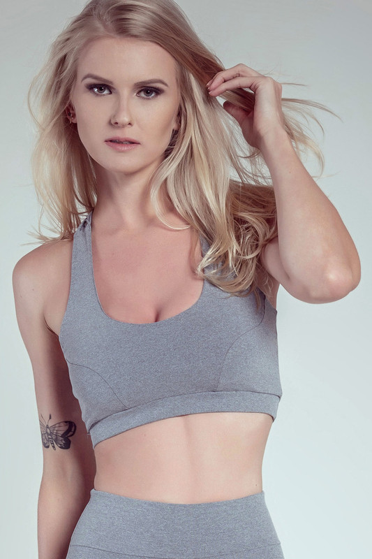 EMPIRE Sports Bra Grey-Marl