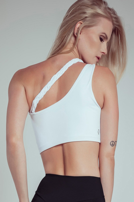 GODDESS Athletic Bra White