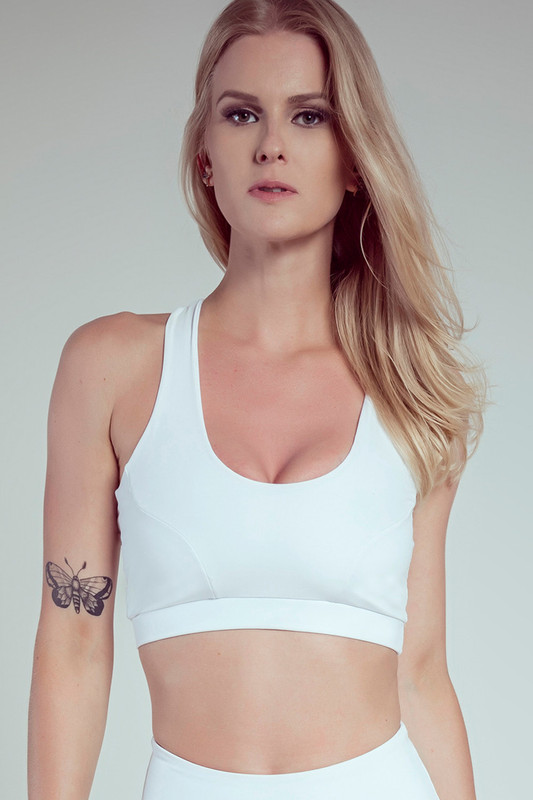 EMPIRE Sports Bra White