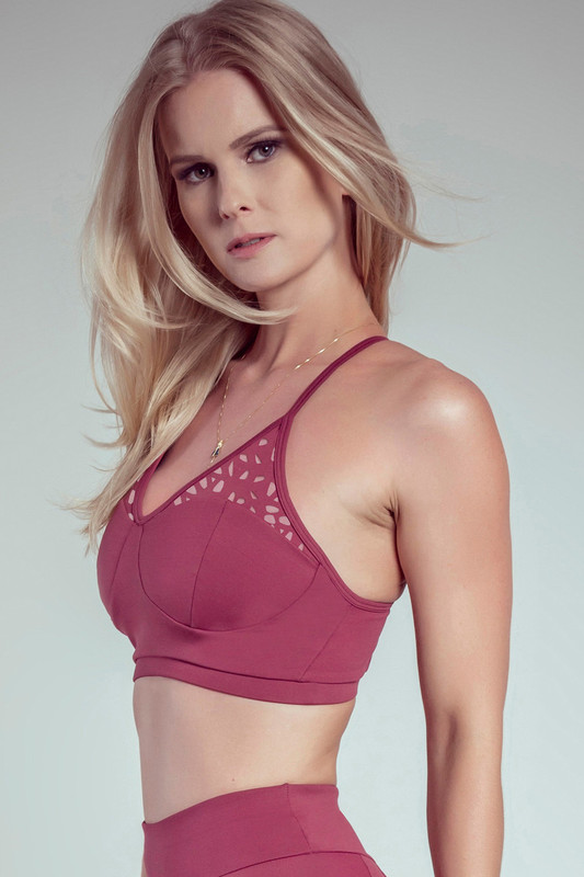 STAR Sports Bra Cherry