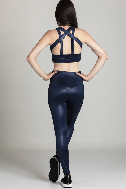 ALOIS Gloss Sports Bra Navy