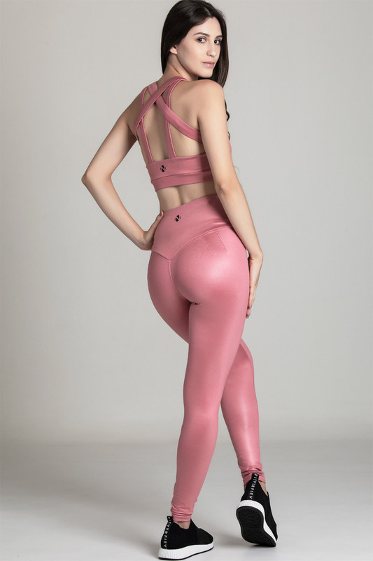 BB.UP Gloss High-Waist Legging Blossom