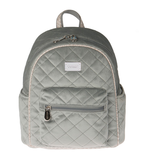Mojito Quilted Velvet Mini Backpack