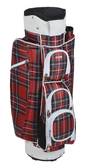 Balmoral Red Tartan Golf Bag