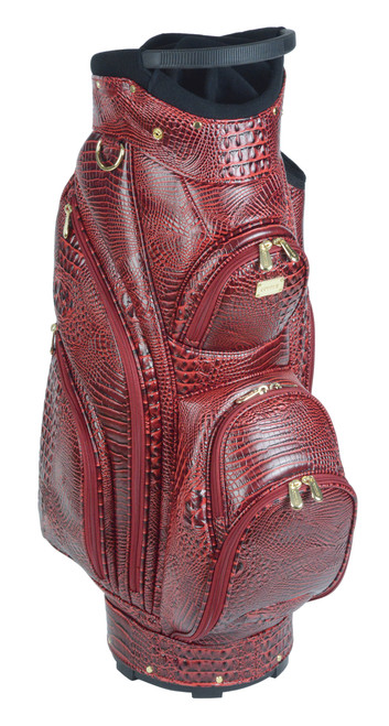 St. Moritz Red Croc Golf Bag