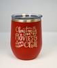 Christmas Movies and Chill 12 oz Polar Camel Wine Tumbler