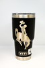 Black 30 oz Wyoming Steamboat Yeti Rambler