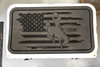 Steamboat Tattered Flag engraved on a Dark Gray pad