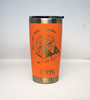 20 oz Coral Yeti Not all Who Wander are Lost