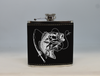 Black and Silver Bass Fishing Flask