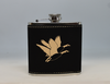 Black and Gold Geese Flask
