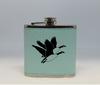 Teal Geese Flask