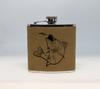 Tan Walleye Flask