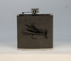 Gray Fly Flask