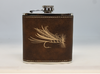 Brown and Gold Fly Flask