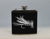 Black and Silver Fly Flask