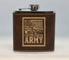 Brown and Gold  Army Veteran Flask