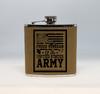 Tan  Army Veteran Flask
