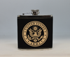 Black  and Gold Army Flask